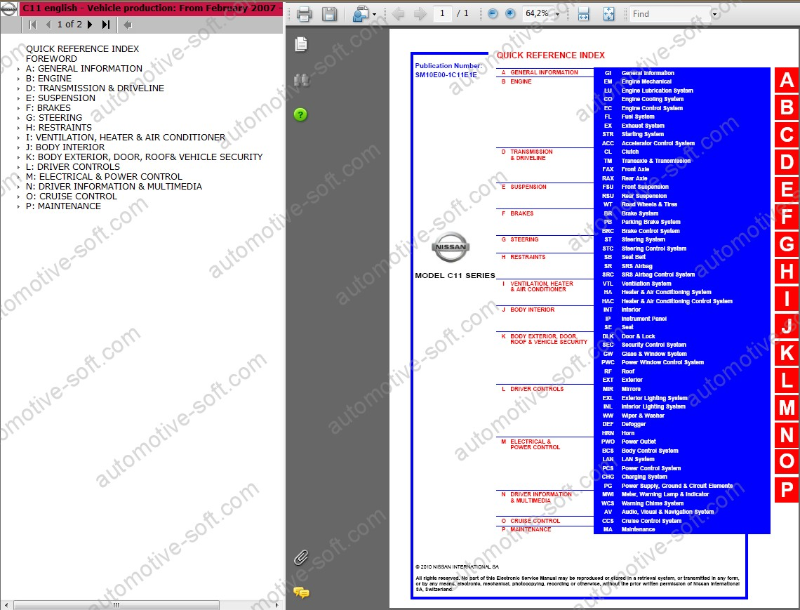 Nissan Tiida C11 Service Manual Repair Workshop Wiring Diagram Screenshots